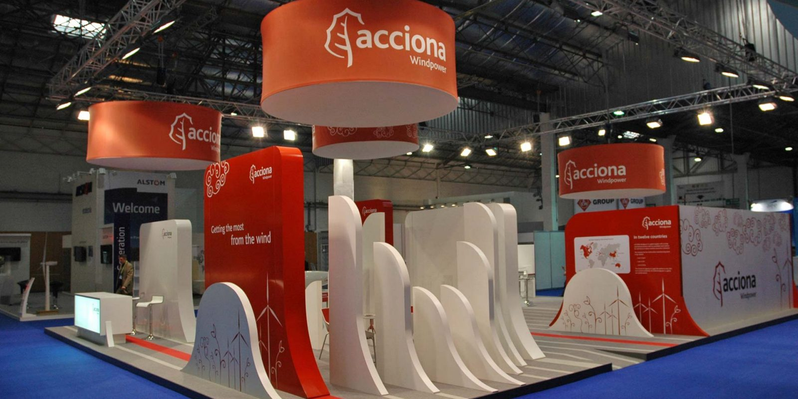 STANDS ACCIONA ENERGÍA AND ACCIONA WINDPOWER