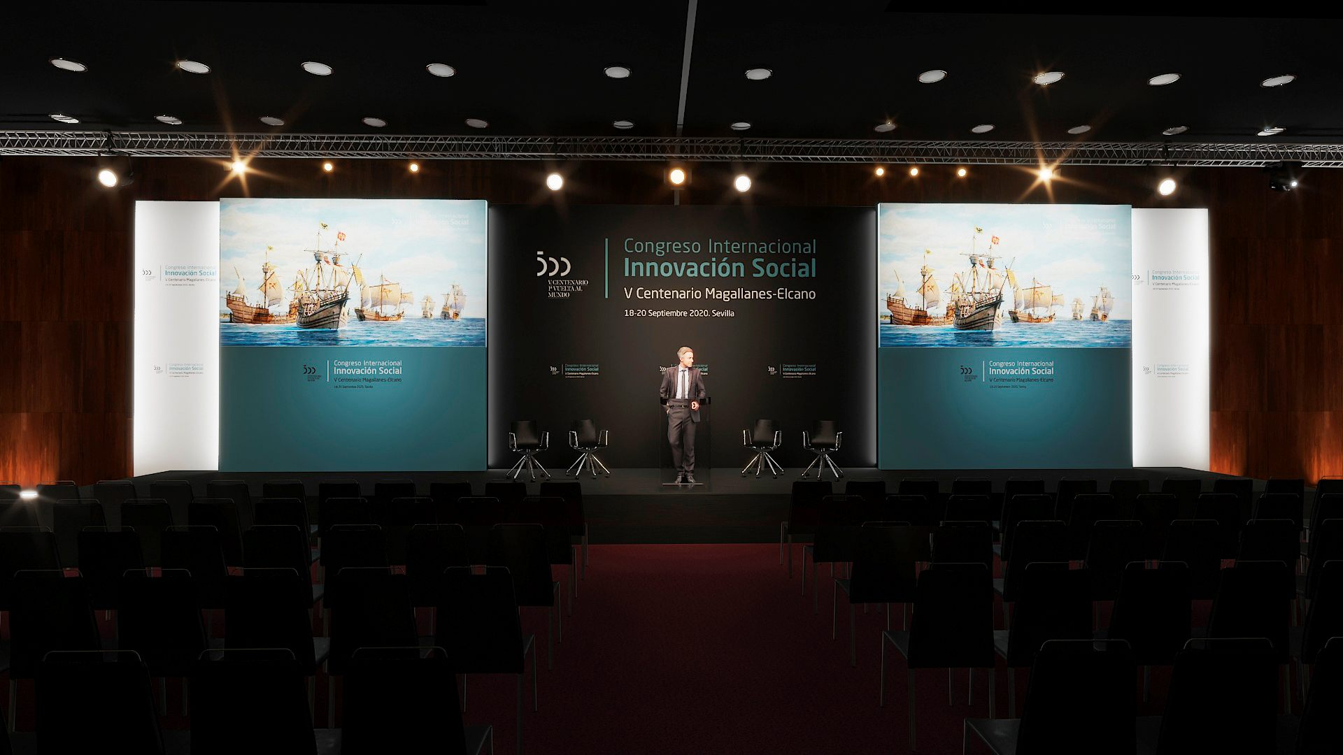 This will be the setting for the 1st Ibero-American Social Innovation Congress. Photo: 5th Magallanes-Elcano Centenary